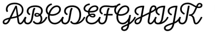 Stratic Script Light Font UPPERCASE