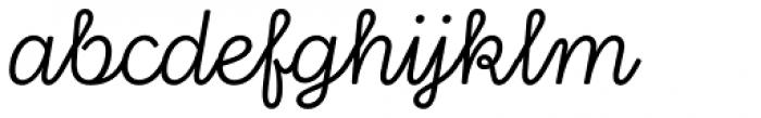 Stratic Script Light Font LOWERCASE
