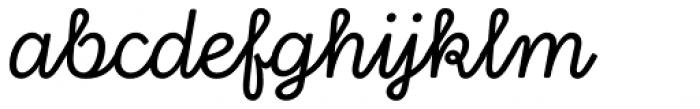 Stratic Script Regular Font LOWERCASE