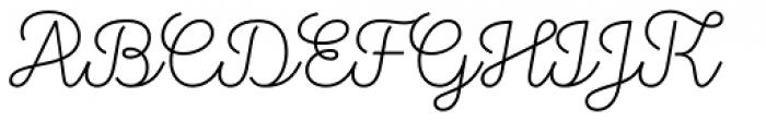 Stratic Script Thin Font UPPERCASE