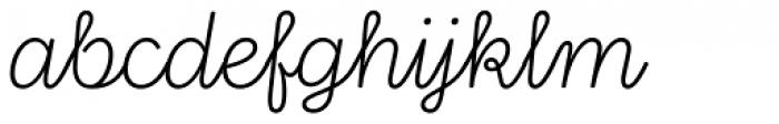Stratic Script Ultra Light Font LOWERCASE