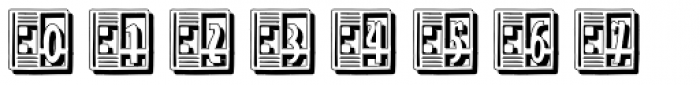 Streamline Deco Square Shadow Font OTHER CHARS