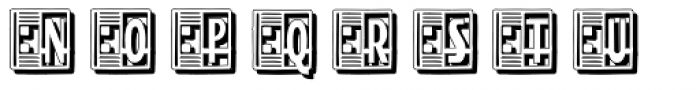 Streamline Deco Square Shadow Font UPPERCASE