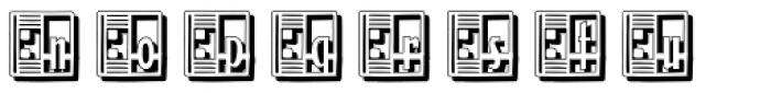 Streamline Deco Square Shadow Font LOWERCASE