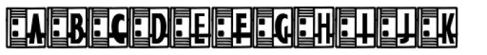 Streamline Deco Square2 Font UPPERCASE