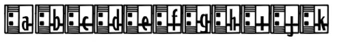 Streamline Deco Square2 Font LOWERCASE