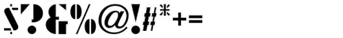 Streamlined Stencil JNL Font OTHER CHARS