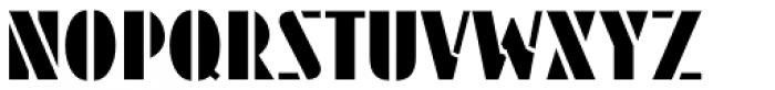 Streamlined Stencil JNL Font UPPERCASE