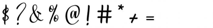 Strengthen Script Regular Font OTHER CHARS