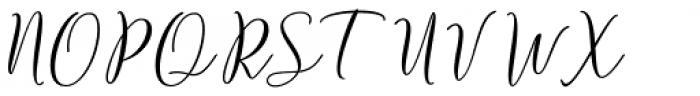 Strengthen Script Regular Font UPPERCASE