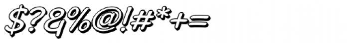 Stripwriter 3 D Oblique Font OTHER CHARS