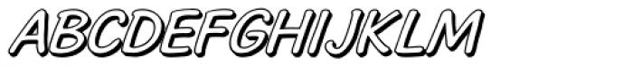 Stripwriter 3 D Oblique Font UPPERCASE