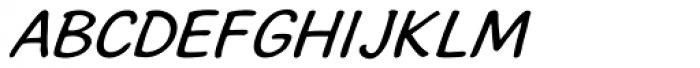 Stripwriter Oblique Font UPPERCASE