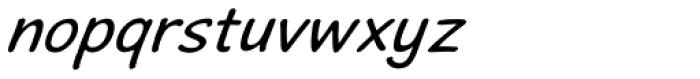 Stripwriter Oblique Font LOWERCASE