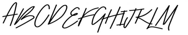 Stroom Script Bold Font UPPERCASE