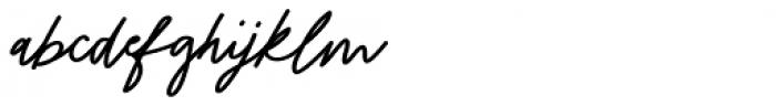 Stroom Script Bold Font LOWERCASE