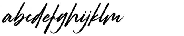 Strude Regular Font LOWERCASE