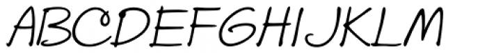 Stu Print Slant Font UPPERCASE