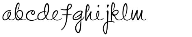 Stu Script Upright Font LOWERCASE