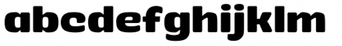 Stubby Bold Font LOWERCASE