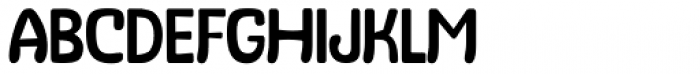 Stubby Thin Font UPPERCASE