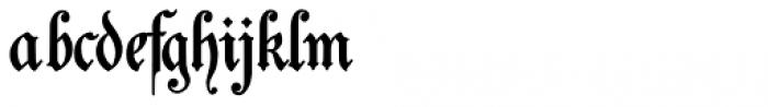 Students Alphabet Bold Font LOWERCASE