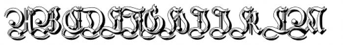 Students Alphabet Shadow Font UPPERCASE