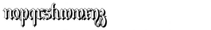 Students Alphabet Shadow Font LOWERCASE