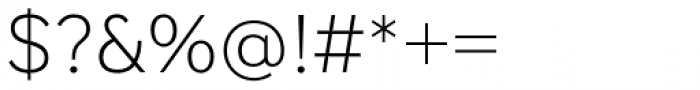 StudioSans Extra Light Font OTHER CHARS