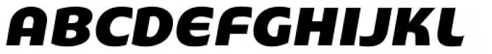 Stumpy Oblique Font UPPERCASE