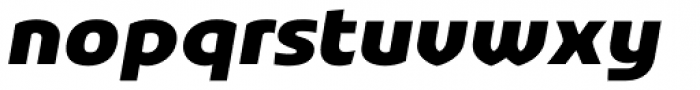 Stumpy Oblique Font LOWERCASE