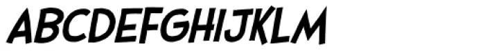 Stupid Head Light Italic Font LOWERCASE