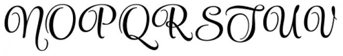 Style Endings Font UPPERCASE