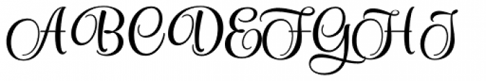 Style Formal Font UPPERCASE