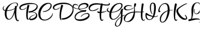 Style Script Font UPPERCASE