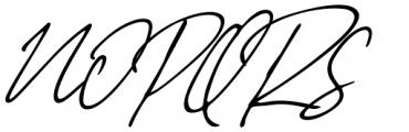 Stylish Classy Italic Font UPPERCASE
