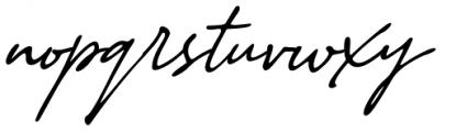 Stylish Classy Italic Font LOWERCASE