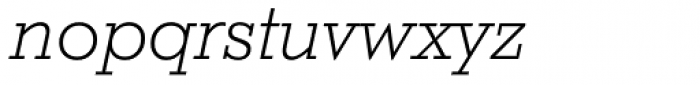 Stymie Light Italic Font LOWERCASE