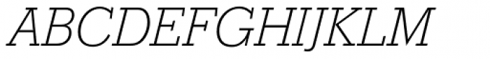 Stymie SB ExtraLight Italic Font UPPERCASE