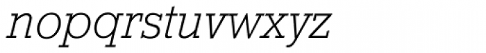 Stymie SB ExtraLight Italic Font LOWERCASE