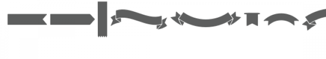 stencil ribbons dingbat Font UPPERCASE