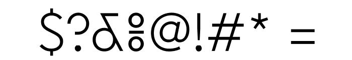 EuclidFlex Light WebXL Font OTHER CHARS