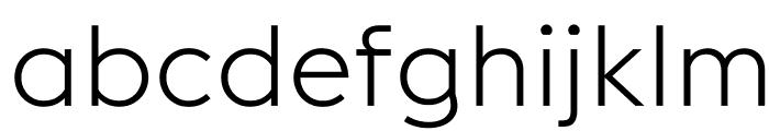 EuclidFlex Light WebXL Font LOWERCASE