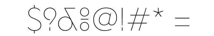 EuclidFlex Ultralight WebXL Font OTHER CHARS