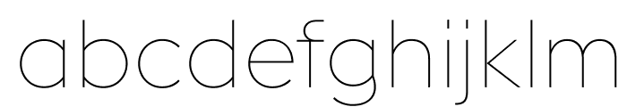 EuclidFlex Ultralight WebXL Font LOWERCASE