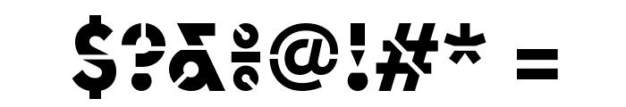 EuclidStencil Bold Web Font OTHER CHARS