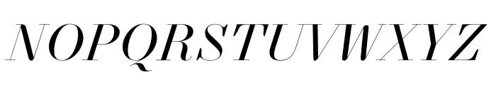 NewParisKingSize RegularItalic WebXL Font UPPERCASE