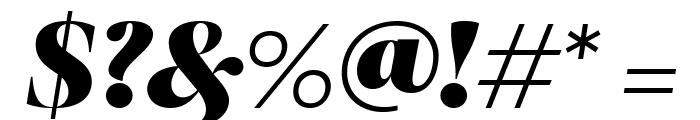 RomainHeadline BlackItalic WebXL Font OTHER CHARS