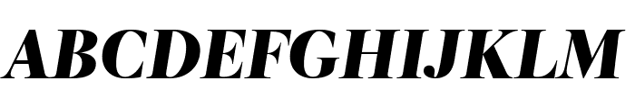 RomainHeadline BlackItalic WebXL Font UPPERCASE
