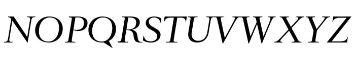 RomainHeadline RegularItalic WebXL Font UPPERCASE